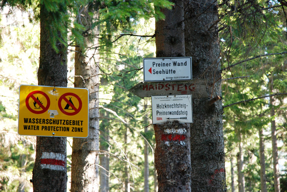 Klettersteig Rax : Albert milde rax holzknechtsteig waldweg zu den klettersteigen