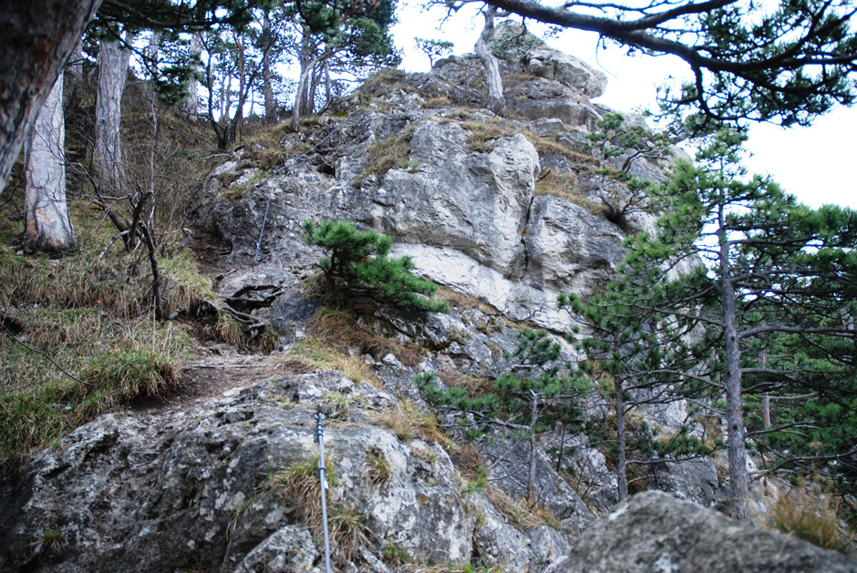Mödlinger Klettersteig : Albert milde mödlinger klettersteig  scharte a b