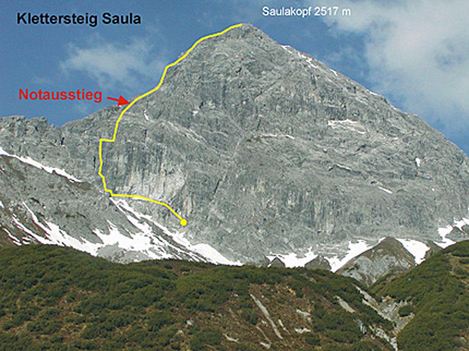 Klettersteig Saulakopf : Albert milde saulakopf klettersteig übersicht