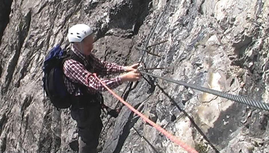 Klettersteig Saulakopf : Albert milde saulakopf klettersteig b