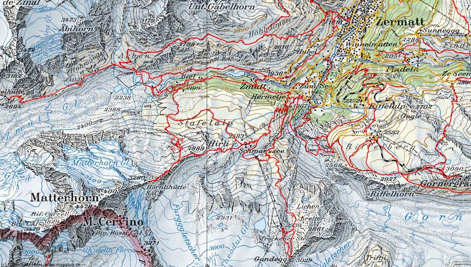 matterhorn karte Matterhorn Landkarte   Deutschland Karte matterhorn karte