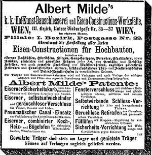 Briefkopf von Albert Milde & Co. ab 1900