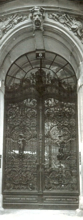 New Baroque Lattice Gate of the Springer Palace made by Johann M. Baierlein