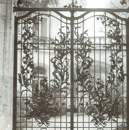 Lattice Gate of the French Embassy in Vienna made by Balerian Gillar